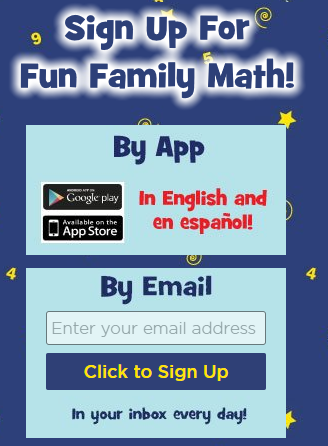 Sign up for family fun via email or Google Play/App Store